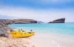 Praia de Bomino, Malta Foto de Stock