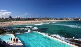 Praia de Bondi em Sydney, Austrália Foto de Stock