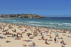 Praia de Bondi, Sydney, Austrália Fotografia de Stock