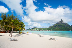 Praia de Bora Bora Imagem de Stock Royalty Free