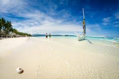 Praia de Boracay Fotografia de Stock