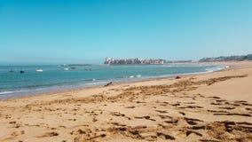 Praia de Bouznika em Marrocos Imagens de Stock