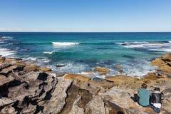Praia de Bronte, que o IS-IS encontrou 7 quilômetros ao leste do Sydne fotos de stock