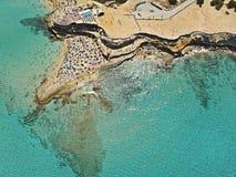 Praia de Cala Conta, Ibiza, Espanha foto de stock