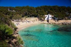 Praia de Cala Gat Foto de Stock Royalty Free