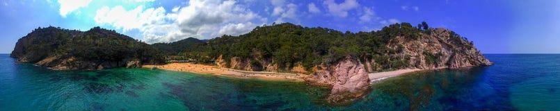 Praia de Cala Giverola foto de stock royalty free