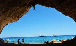 Praia de Cala Luna, Sardinia, Itália fotos de stock royalty free