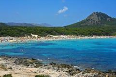 Praia de Cala Ratjada, Majorca Fotografia de Stock Royalty Free