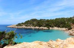 Praia de Cala Salada, San Antonio, Ibiza Foto de Stock