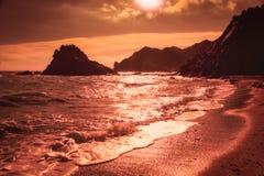 Praia de Calabardina, Múrcia, Espanha fotografia de stock