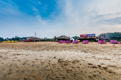 Praia de Calangute da vista bonita Foto de Stock Royalty Free