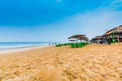 Praia de Calangute das dunas de areia Imagens de Stock