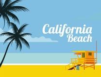 Praia de Califórnia Foto de Stock Royalty Free
