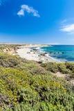 Praia de Califórnia ao longo da estrada da Costa do Pacífico Imagem de Stock Royalty Free