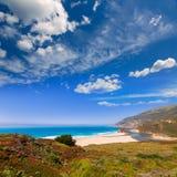 Praia de Califórnia em Big Sur na estrada pacífica 1 de Monterey Fotografia de Stock Royalty Free