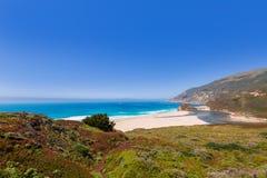 Praia de Califórnia em Big Sur na estrada pacífica 1 de Monterey Imagem de Stock