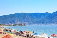 Praia de Calis perto do centro de Fethiye Fotografia de Stock