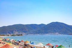 Praia de Calis perto do centro de Fethiye Imagem de Stock Royalty Free