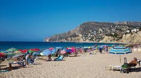 Praia de Calpe Imagem de Stock