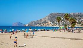 Praia de Calpe, Costa Blanca, Espanha Imagem de Stock Royalty Free