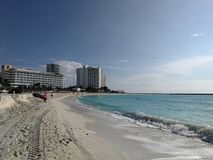 Praia 01 de Cancun Fotografia de Stock