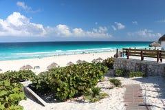 Praia de Cancun fotografia de stock