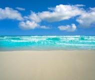 Praia de Cancun Delfines na zona México do hotel Imagens de Stock Royalty Free