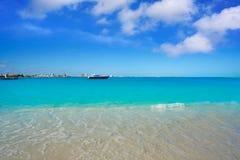 Praia de Cancun Playa Langostas em México imagem de stock royalty free