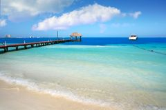 Praia de Cancun Playa Langostas em México foto de stock royalty free