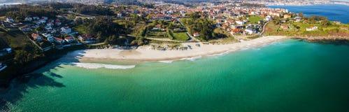Praia de Canelas no Rias Baixas em Pontevedra Imagem de Stock