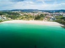 Praia de Canelas no Rias Baixas em Pontevedra Foto de Stock