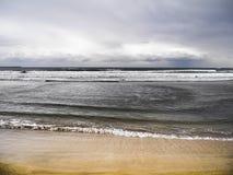 Praia de Cantabric na Espanha fotografia de stock