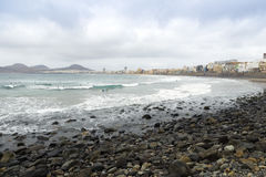 Praia de Canteras Fotografia de Stock
