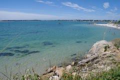 Praia de Carnac em França Fotografia de Stock