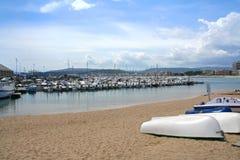 Praia de Cartagena Imagem de Stock Royalty Free