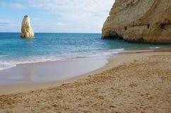Praia de Carvalho no Algarve portugal Fotos de Stock Royalty Free