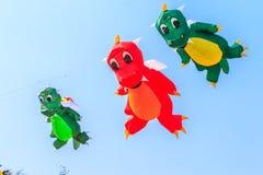 PRAIA de CHA AM - 9 de março: 15o festival internacional do papagaio de Tailândia Fotos de Stock