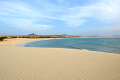 Praia de Chaves Beach, vue de boa, Cap Vert Photographie stock libre de droits