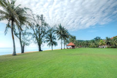 Praia de Cherating, Kuantan, Malásia Imagens de Stock Royalty Free