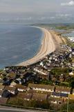 A praia de Chesil, vista de Portland Bill Foto de Stock