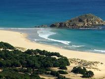Praia de Chia Fotografia de Stock