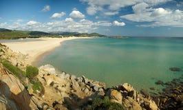 Praia de Chia Imagem de Stock