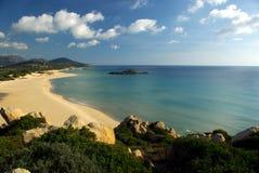 Praia de Chia Fotos de Stock Royalty Free