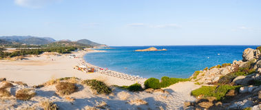 Praia de Chia Foto de Stock Royalty Free