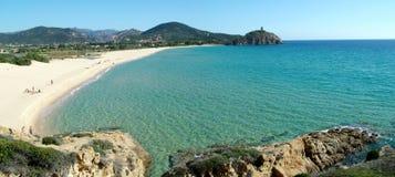 Praia de Chia - de Monte Cogoni Fotografia de Stock Royalty Free