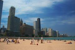 Praia de Chicago Imagens de Stock Royalty Free