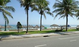 Praia de China do Da Nang Área de R&R para as forças armadas dos E.U. durante a guerra foto de stock royalty free