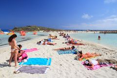 Praia de Chipre Foto de Stock Royalty Free