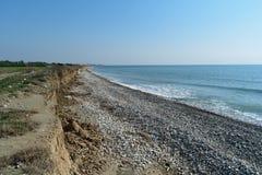 Praia de Chipre no inverno Imagem de Stock Royalty Free