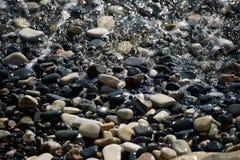 Praia de Chipre no inverno Imagens de Stock Royalty Free